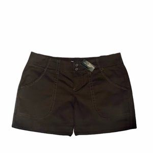 The Limited Drew Fit Dark Brown Cuffed Shorts